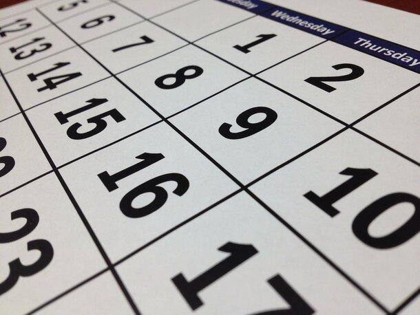 Bild von einem Kalender